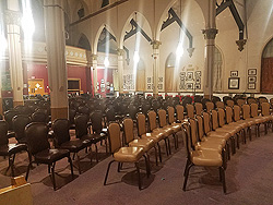 Seating at St. Kieran's Cathedral